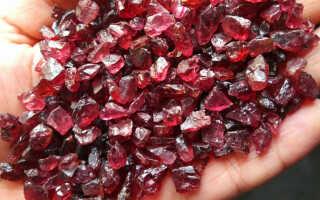 Виды, цвета и магические свойства камня граната