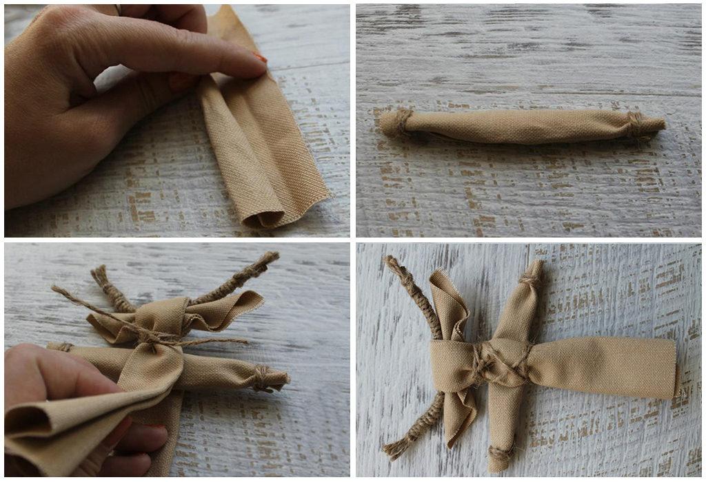 Крепление конечностей куклы козы