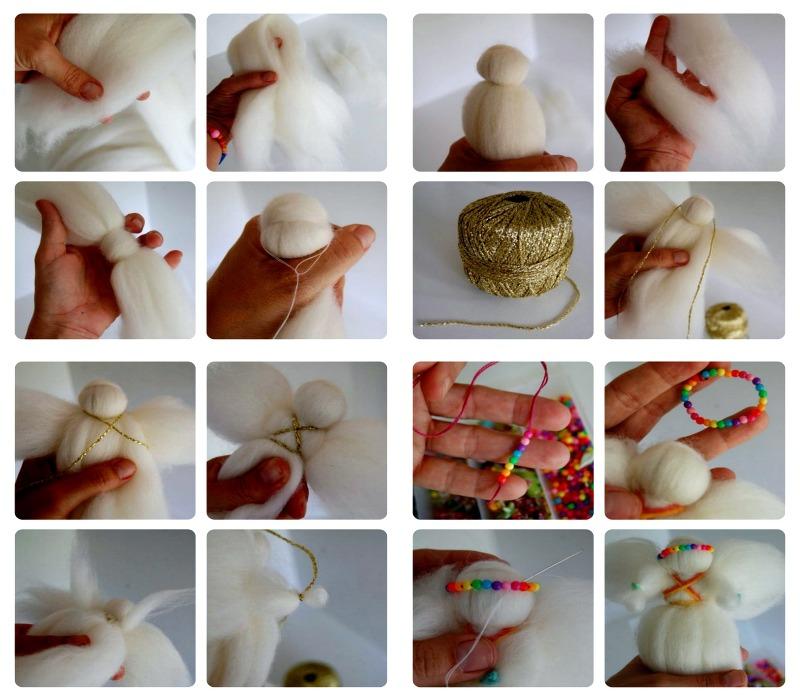 Пошаговое изготовление куклы Ангел из шерсти