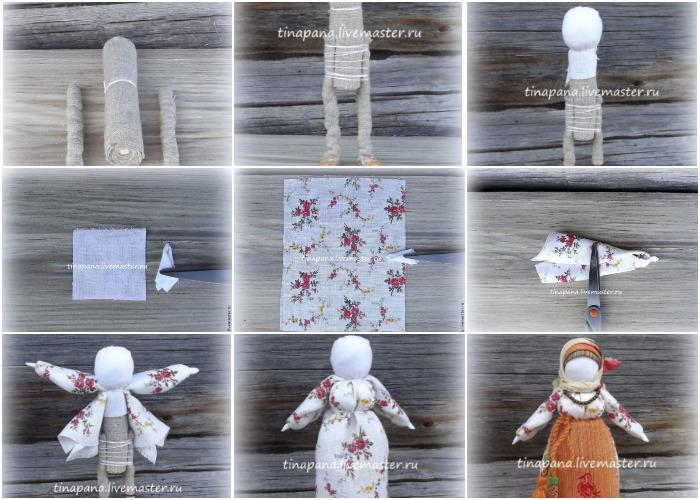Пошаговое изготовление «Кукла оберег Рябинка»