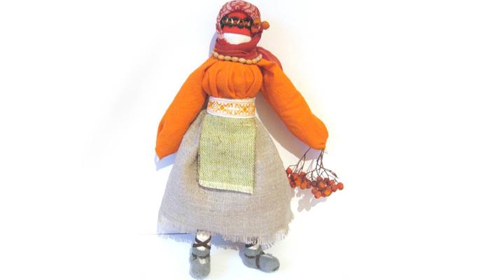 Кукла Рябинка по принципу столбушки