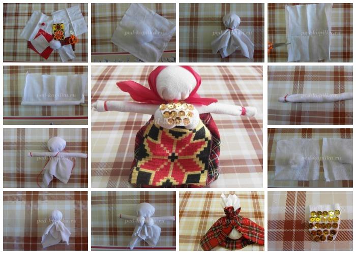 Пошаговое создание куклы-закрутки
