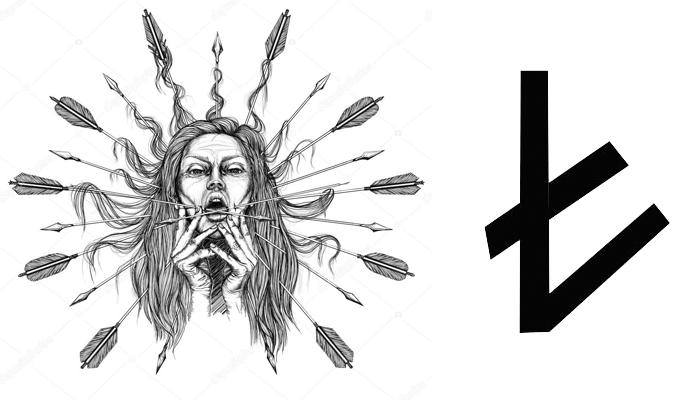 Эскиз татуировки Берегиня