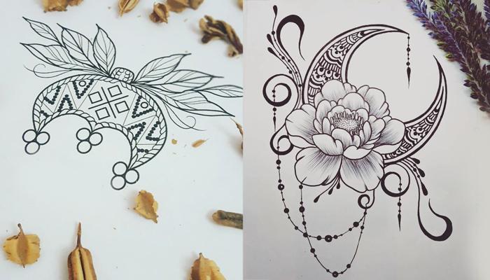 Эскизы татуировки Лунница