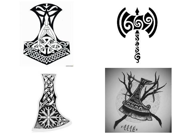 Секира Перуна - эскиз татуировки