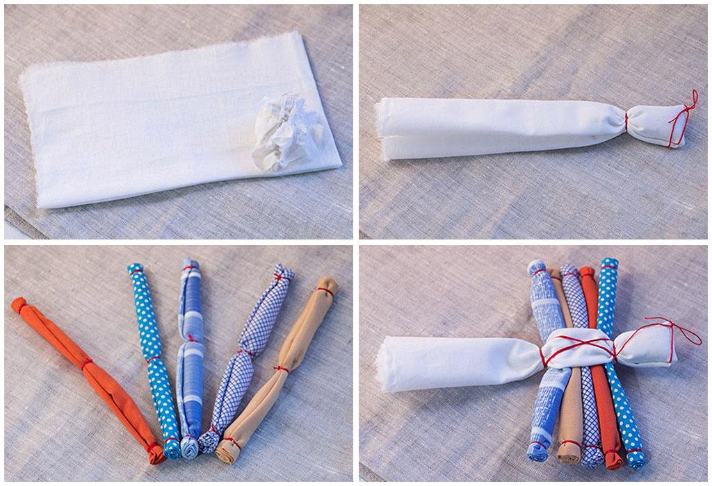 Создание куклы Десятиручки из ткани