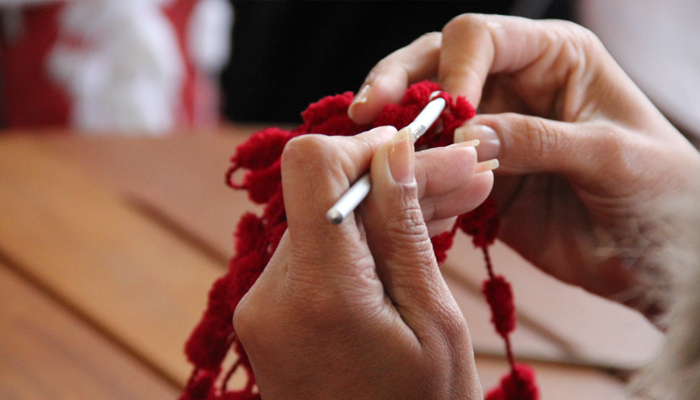 Создание вязаного талисмана