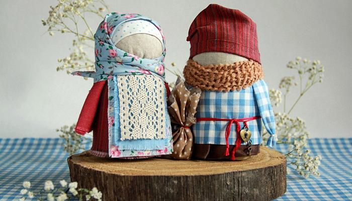 Обережные куклы Крупеничка и Богач