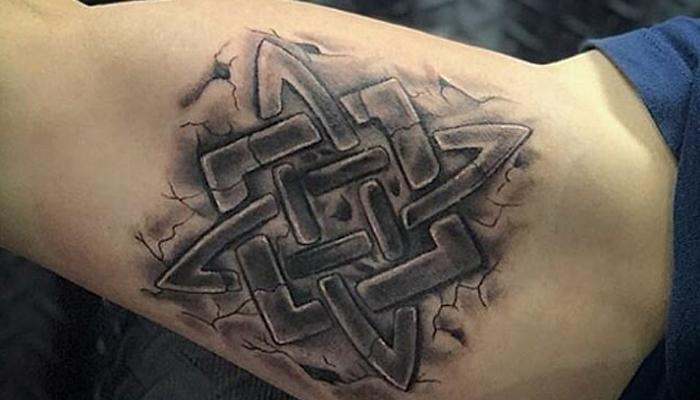 Звезда Руси татуировка на руке