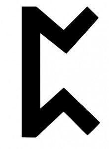 Рунический знак Перто