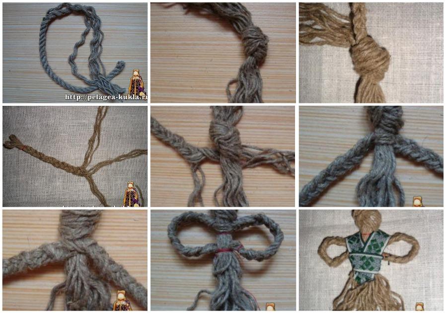 Изготовление куколки Макошь из ниток