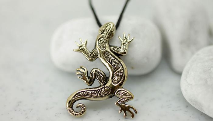 Талисман с саламандрой