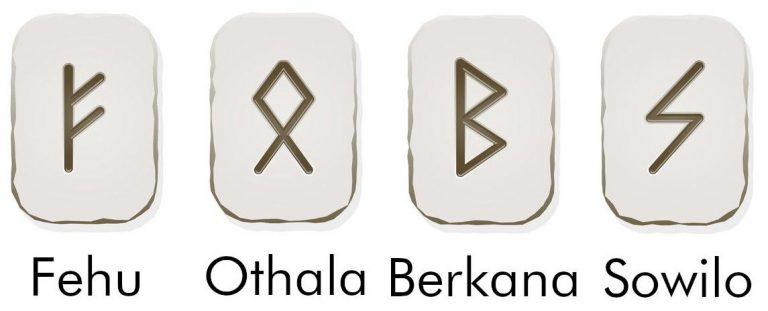 Руническая формула Феху-Беркана-Отала-Соула