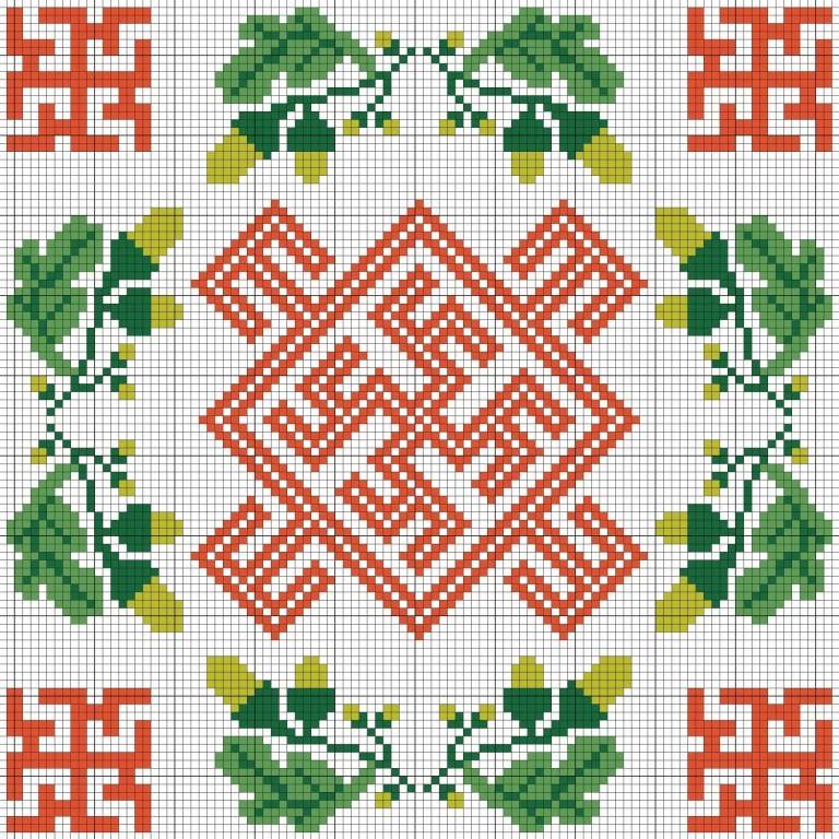 Схемы для вышивания Цвет Папоротника