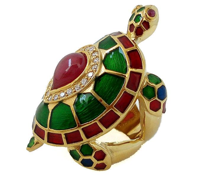 Черепаха с рубином