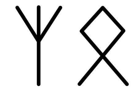 Знаки Альгиз и Отал
